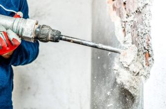 процесс снятия бетонной стяжки