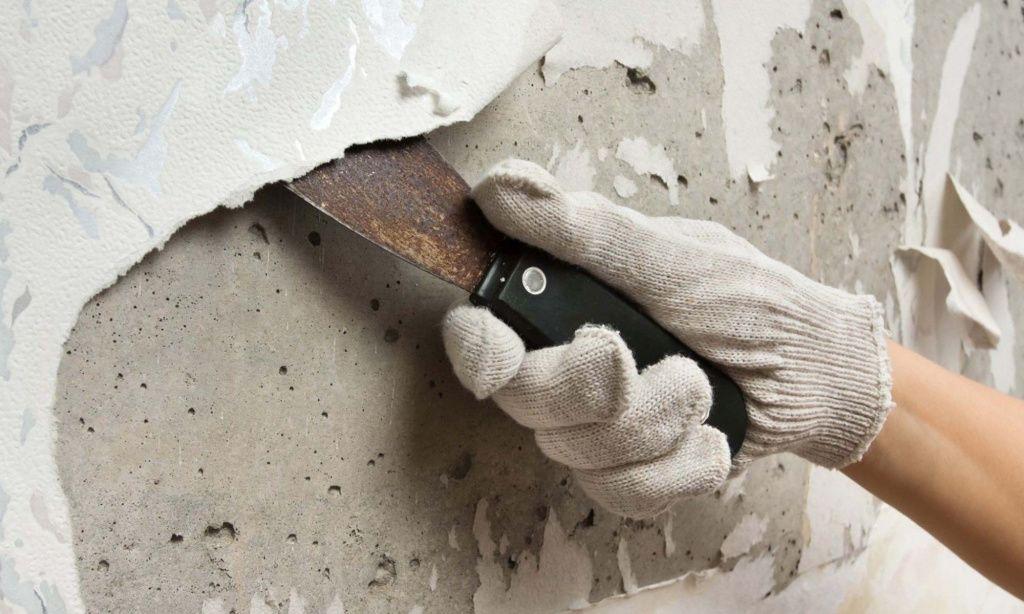 фото демонтажа штукатурки со стен