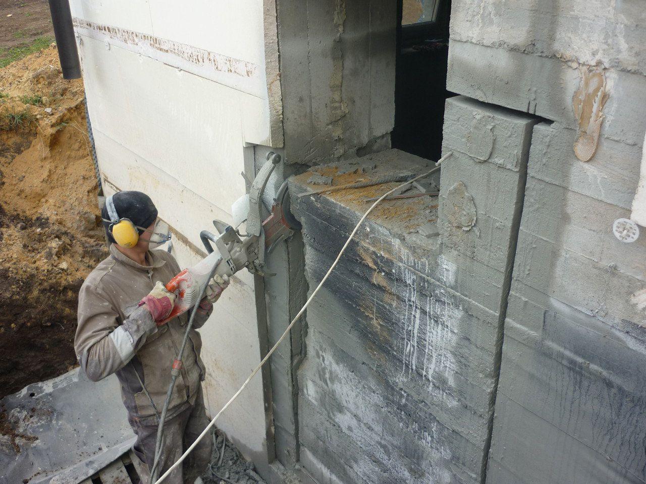 фото демонтажа монолитной стены