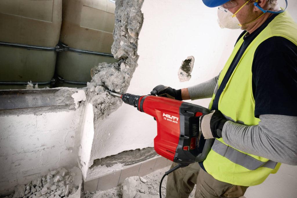 фото демонтажа бетонной стены