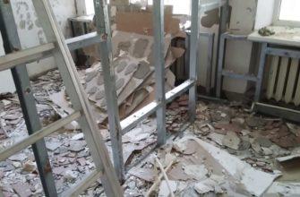 фото демонтажа стен из гипсокартона