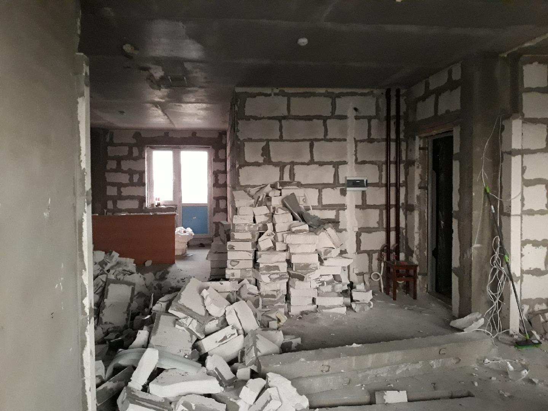 фото демонтажа стен из пеноблоков