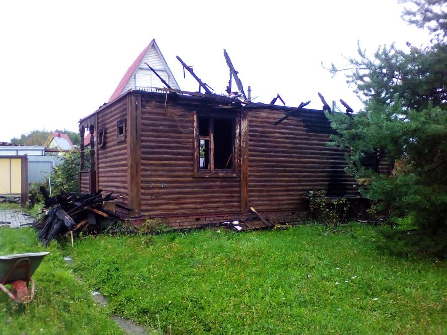 фото демонтажа дома из бруса